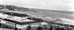View of Bondi Pavilion from the Bondi Hotel, ca.1928.