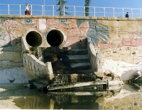 Stormwater drain at South Bondi. Photo courtesy of Waverley Library.