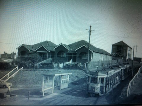 fletcher street near cutting 1954