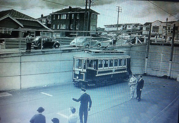 north bondi tram terminus 1954